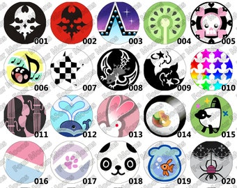 The World Ends With You (TWEWY) Buttons- Choose a Few