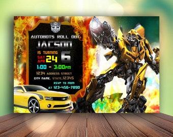 Transformers Birthday Invitation, Transformers Invitation, Transformers Birthday, Transformers Birthday Party, Transformers Birthday Invite