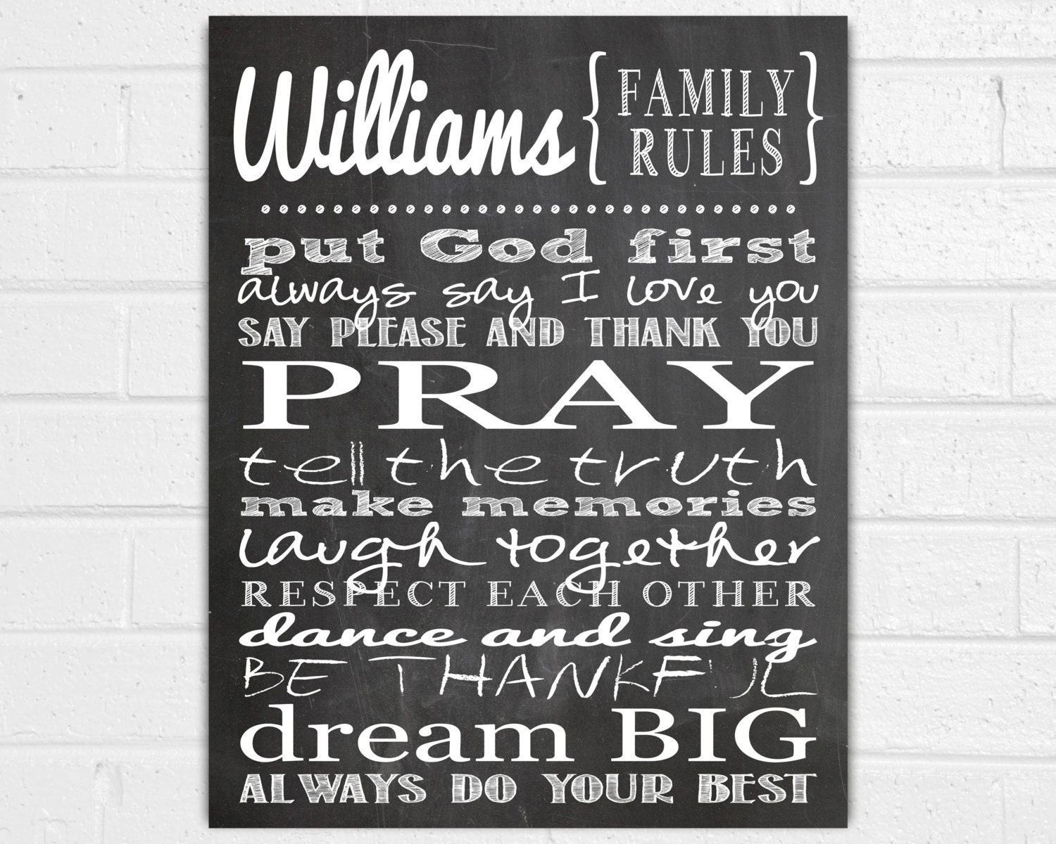 Family Wall Decor Personalized Family Rules Wall Art Family Wall Sayings