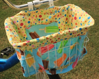 Life's a Dreamsicle Bike Basket Liner and Purse in One