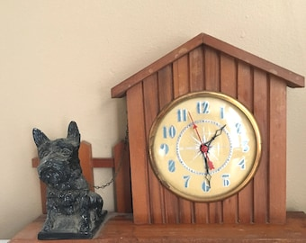 Awesome Mid Century Scottie Dog Clock for Repair