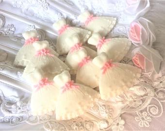 10 Small Dress Soaps,Wedding Dress Soap, Bride Dress Soap, Prom Dress,Princess Dress, Wedding Favor,Party Favor, Girl's Gift