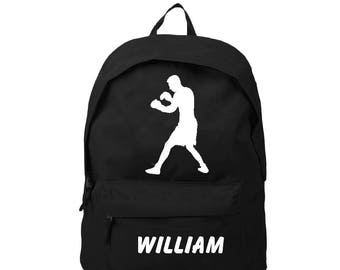 bag has black Boxer personalized with name