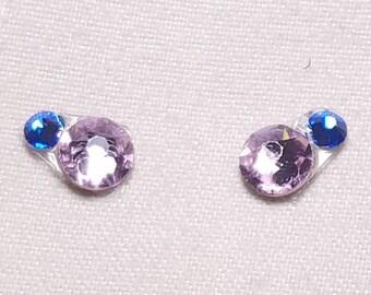 Pale Pink & Blue Eye Candies ATS Tribal Fusion Bindi - 00128