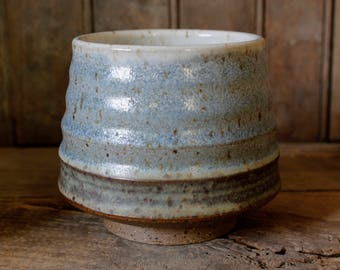 Whisky Cup // Pottery Low Ball // Blue Cup