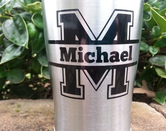 Yeti Decal | Yeti Rambler Decal | Yeti Tumbler Decal |Ozark Tumbler Decal | Split Letter for Yeti Cup | Yeti Cup Decal for Men | Ozark Decal