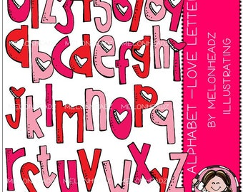 Alphabet clip art - Love Letters - COMBO PACK