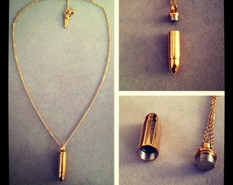 short bullet necklace