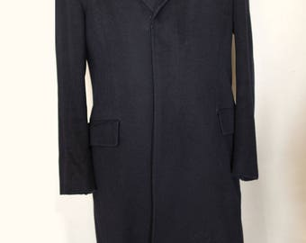 Hand Tailored Black Overcoat by Chester Barrie