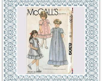 McCall's 8309 (1982) Children's dress and slip - Vintage Uncut Sewing Pattern