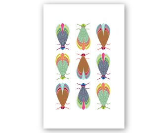 Moth Posse greeting card