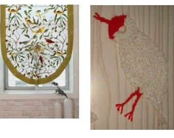Crested ibis bird,8-11-14cm,curtain,cap,sweater,bookmark,brooch,knit patch,crochet,wedding decor,mend hole,white,red--MaryDengZF