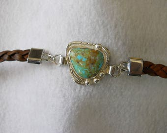 Turquoise Bracelet Set with #8 Mine Turquoise in Sterling Silver