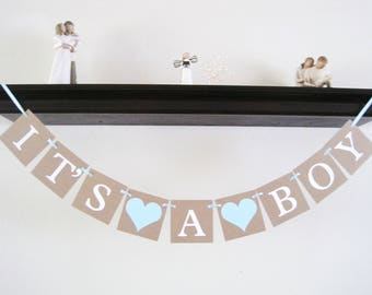 boy baby shower decorations, Its A Boy banner, gender reveal, baby shower banner, party banner, boy baby shower decor, party decorations