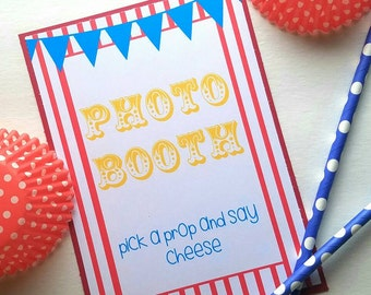Carnival Party - Carnival Party Signs - Carnival Party Decorations - Carnival Birthday - Carnival Theme - Circus Party Decoration - 4x6