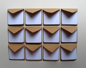 Kraft Paper Mini Stationery Set - White Folded Cards