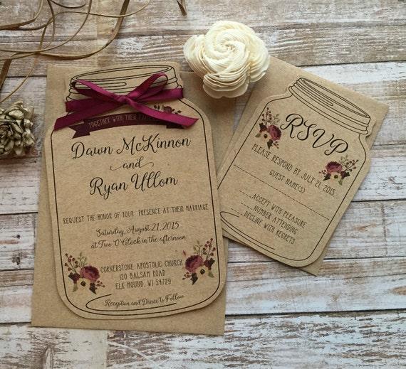 mason jar wedding invitations Minimfagencyco