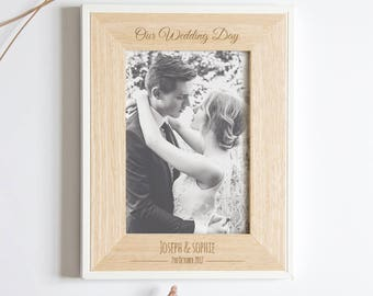 Personalised Wedding Picture Frame, Wedding Photo Frame, Wedding Gift, Personalized Wedding Gift