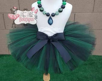 HAUNTED MAID, Haunted Mansion inspired- Green, Black, and White baby/child Tutu with hairbow:  Newborn-5T