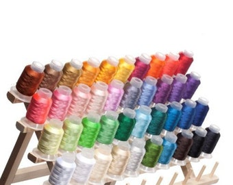 NEW Best Price! 40 Spools Polyester Embroidery Machine Thread Bright and Beautiful Colors - FAST SHIPPING!!!