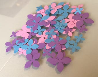Flower Confetti / Blue, Purple, and Pink / Baby Shower / Bridal Shower / Birthday Party / Party Decor