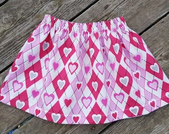 SALE - Girl's Toddlers Pink Hearts - Valentines Day - Ready To Ship