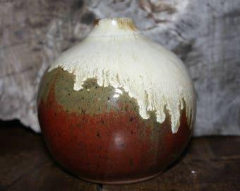 Ceramic Round Vase, Stoneware vase