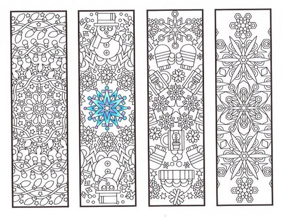 Christmas Coloring Bookmarks Winter Mandalas Coloring For