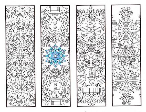 christmas coloring bookmarks winter mandalas coloring for. Black Bedroom Furniture Sets. Home Design Ideas