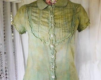 overdyed green fairy shirt
