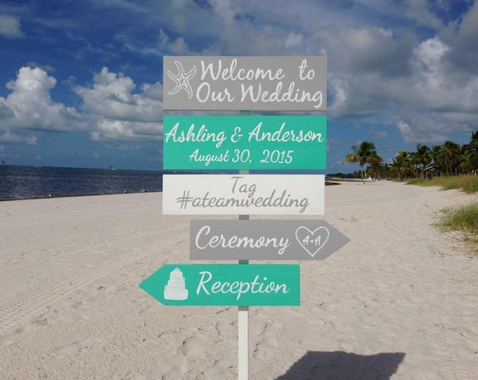 Wedding welcome sign, Aqua Beach Wedding Decor, Shoes Optional Ceremony Sign, Wedding Gift For Couple