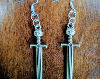 Cat Sword Earrings