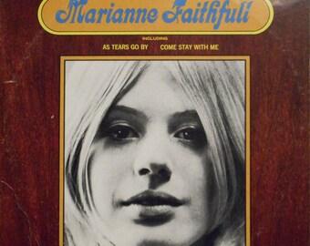 Marianne Faithfull Record Album Vinyl! Authentic Vintage 1974! Marianne Faithfull London Records PS 423 Near Mint Vinyl/Sleeve! Stock Photo
