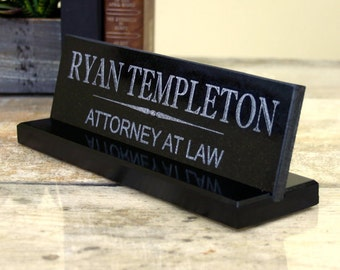 Desk Name Plate Solid Granite Office Desk Sign Customized  Business Professional Doctor Lawyer Dentist Teacher Corporate Desk Sign