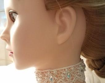 Bridal Choker & Earrings Set ~ Wedding Necklace