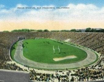 San Francisco, California - Kezar Stadium View (Art Prints available in multiple sizes)