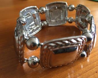 Silver Stretch Bracelet (6-7 inch)