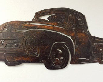 Metal cutout of 1956 Ford Truck, Ford Truck Wall Hanging