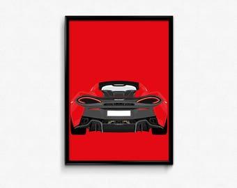 McLaren 540C A3 Print