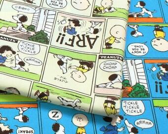 Peanuts Snoopy Comic Print  / Japanese Fabric 110cm x 50cm