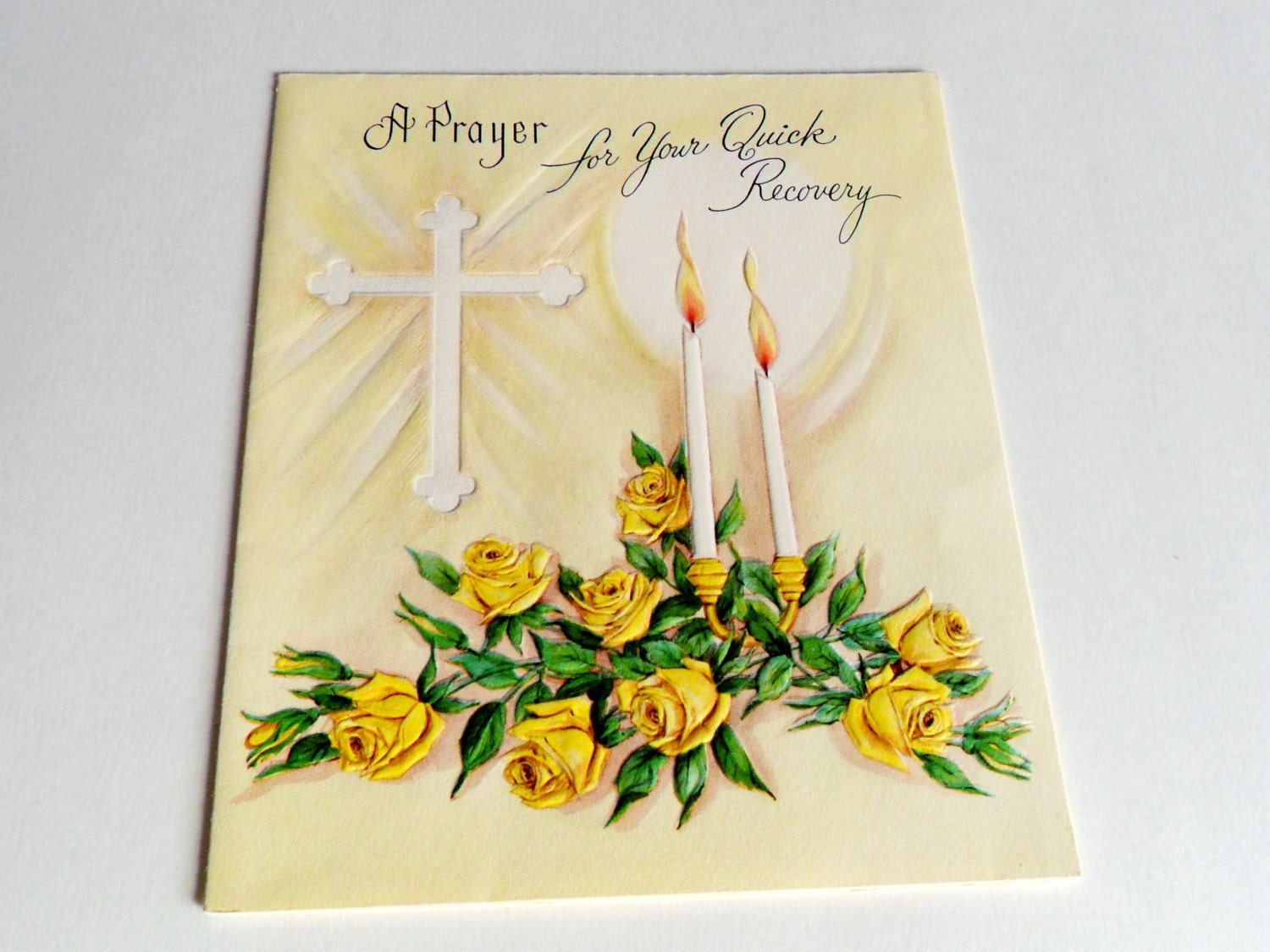 Get Well Soon Card Vintage Greeting Prayer For Quick Recovery