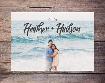 Save the Date Postcard, Save-the-Date Card, Calendar, Photo, DIY Printable, Digital File – Heather