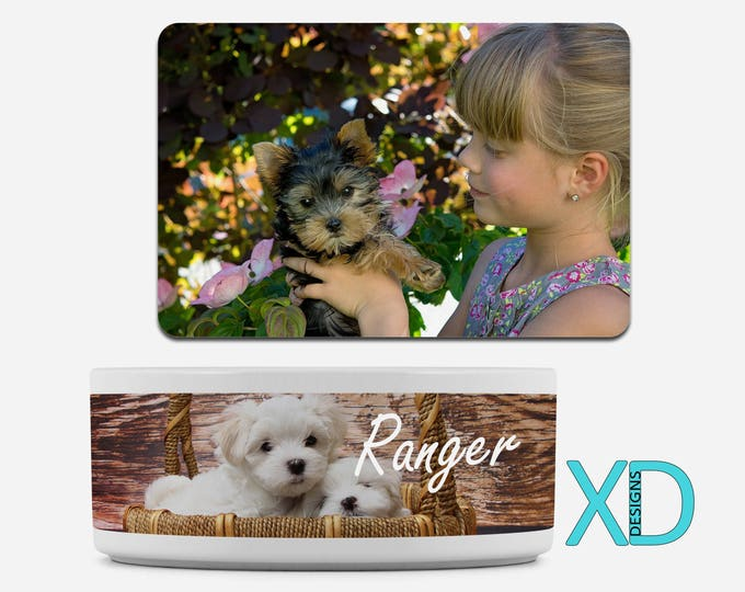 Custom Pet Bowl, Custom Pet Mat, Custom Pet Gift, Pet Food Dish, Food Mat, Water Bowl, Personalized Pet, Dog Bowl, Gift For Animal Lover