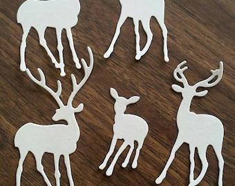 Die cut deer, card stock,scrapbook,