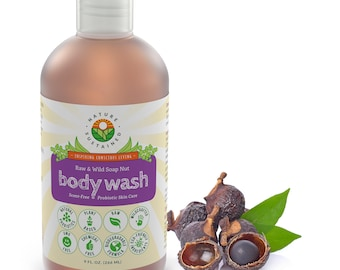 Nature Sustained Raw Probiotic Wild-crafted Soap Nut Body Wash- 9 Fl. Oz.
