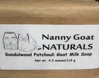 Sandalwood Patchouli Goat Milk Soap