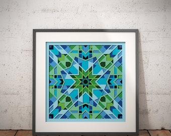 INSTANT DOWNLOAD, Sacred Geometry, Arabic Design, Printable Digital Art, Digital Download, Morocco Pattern Print, Modern Design, Wall Decor