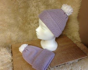 Girls pure wool hat / Girls wool beanie hat