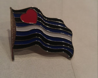 Leather Pride Flag Pin