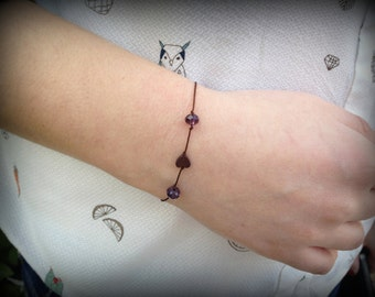 Minimal Bracelet with plastic and metal beads _ Sweet but not too Sweet Collection _ Spring Time Jewelry!